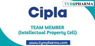 Job opportunities in Cipla as Team Member