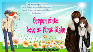 Cerpen cinta Love at First Sight ~ 09