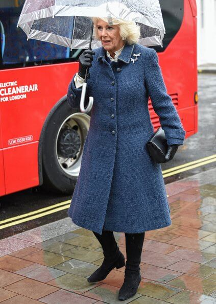 The Prince of Wales and The Duchess of Cornwall visited the London Transport Museum to mark 20 years of Transport for London