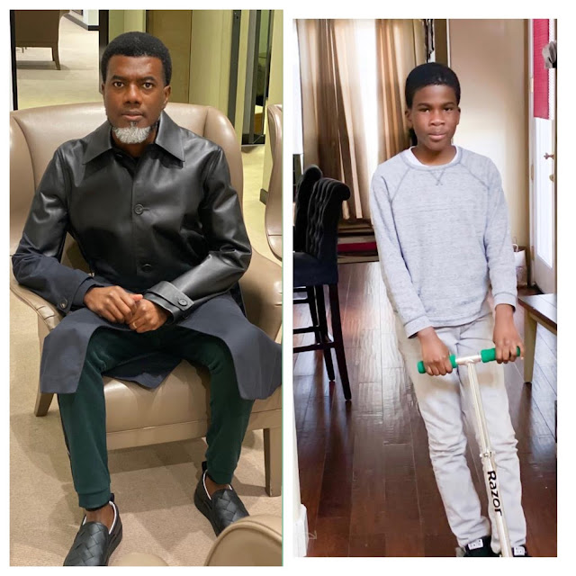 'So Proud, There's No Need For DNA' - Reno Omokri Shares Photo With Son