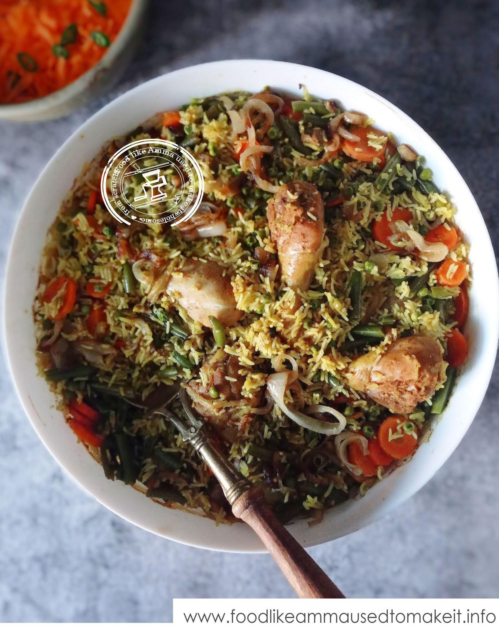 chicken biryani in the oven recipe