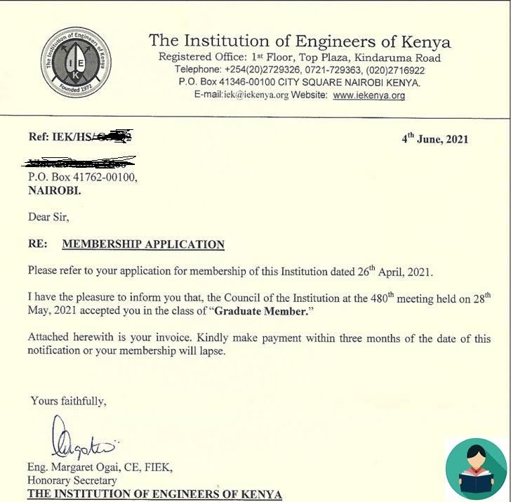 IEK registration application