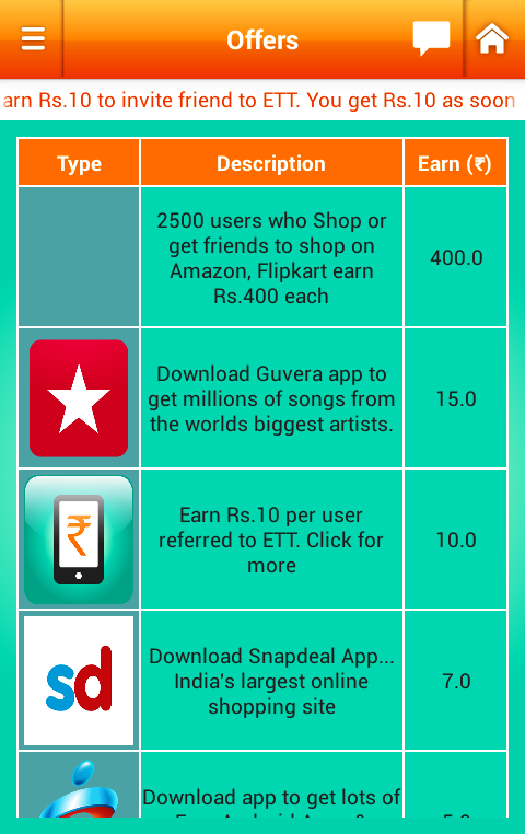 get FREE RECHARGE android APP ETT EARN TALKTIME NKWorld4U