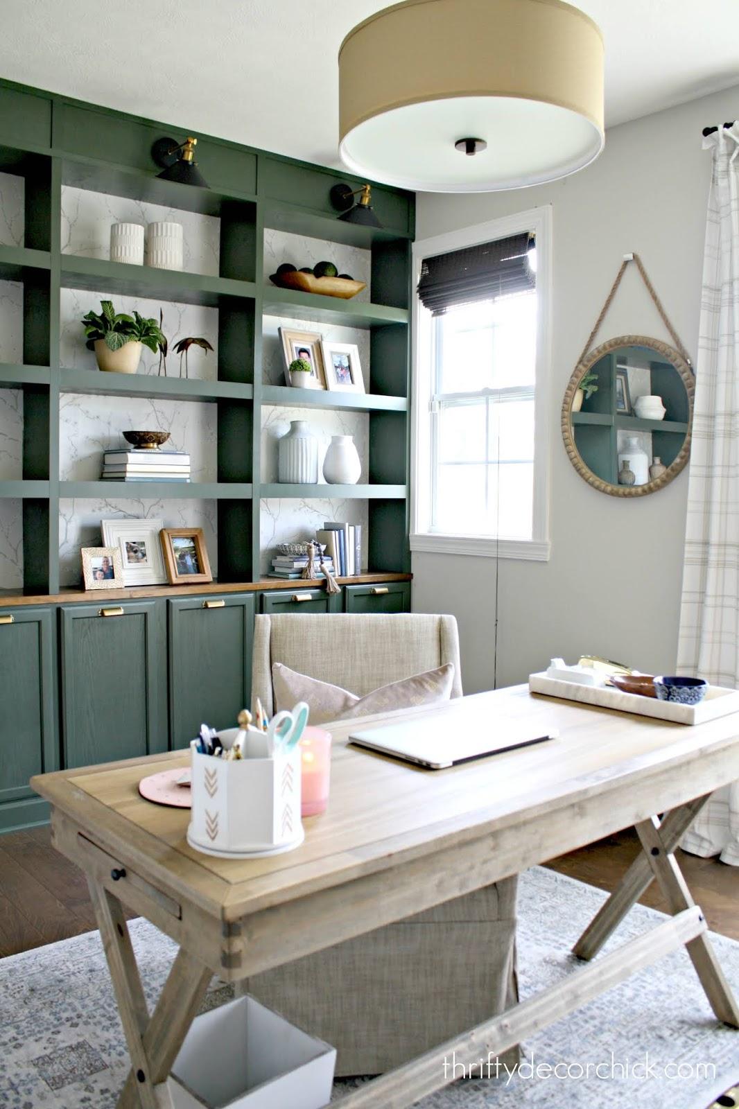 DIY bookcase wall tutorial