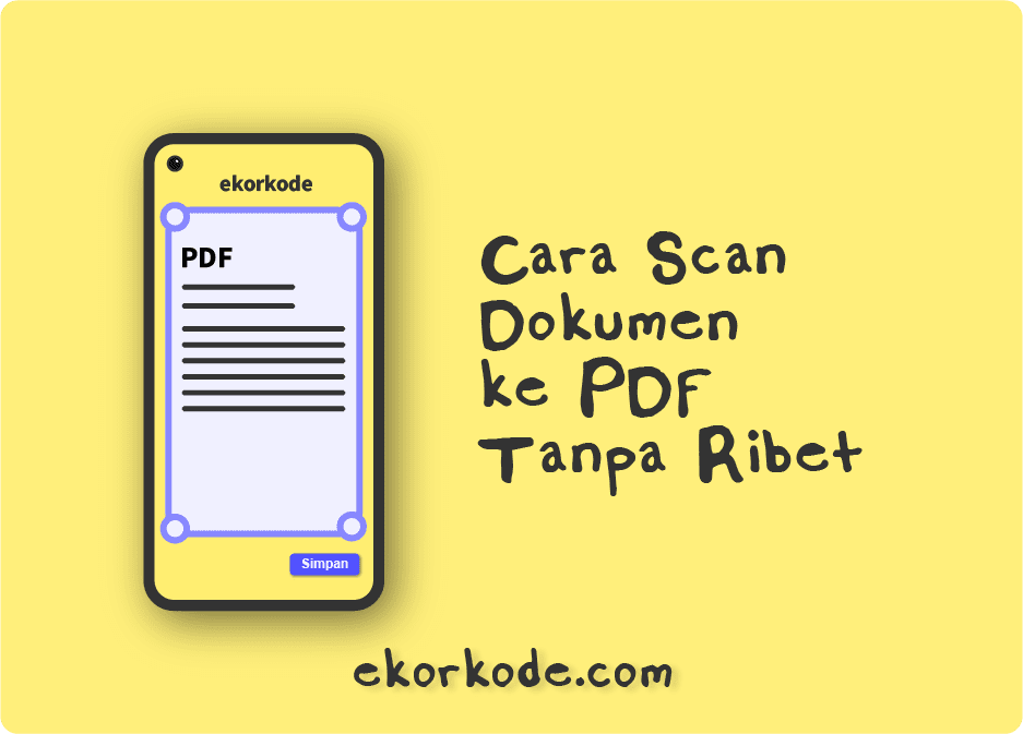 Cara Scan KK, Piagam, Ijazah, Tugas jadi PDF