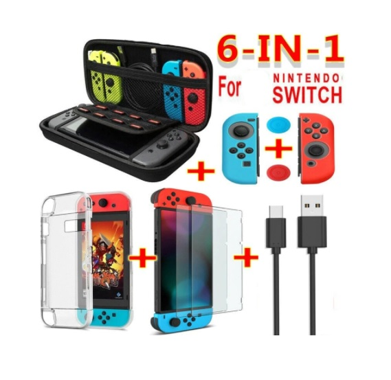 For Nintendo Switch Suit 20 Game Card Slot Portable Storage Bag With Accessories