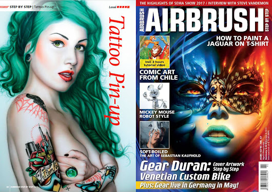 PARTICIPACIÓN EN AIRBRUSH STEP BY STEP MAGAZINE