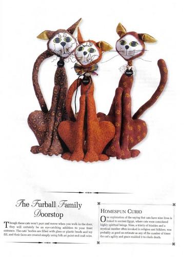 The%252520Furball%252520Family%252520Doorstop - Trio de gatos