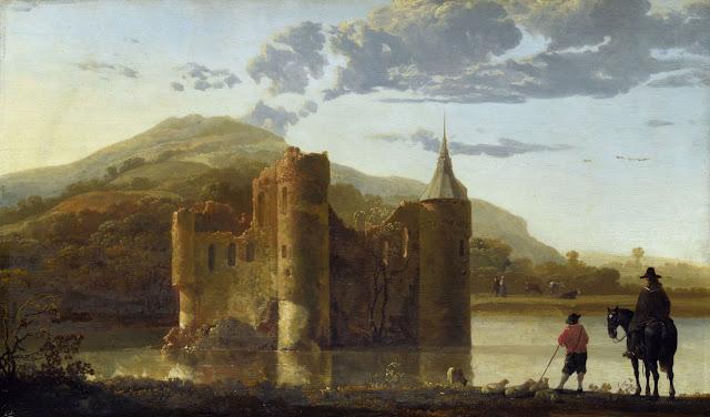 Альберт Кёйп - Пейзаж с замком Берген. 1655