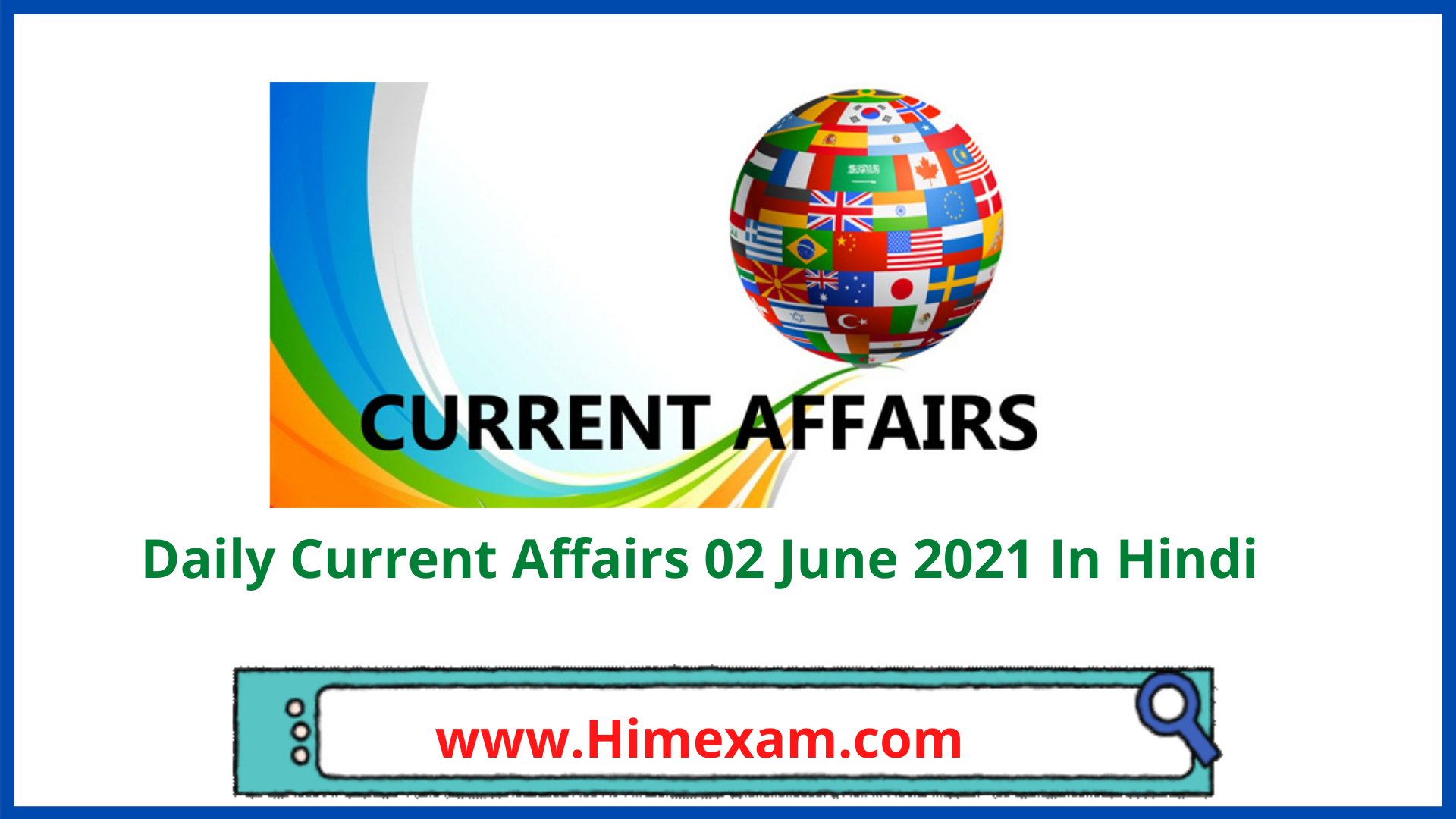 Daily Current Affairs 02 June 2021 In Hindi