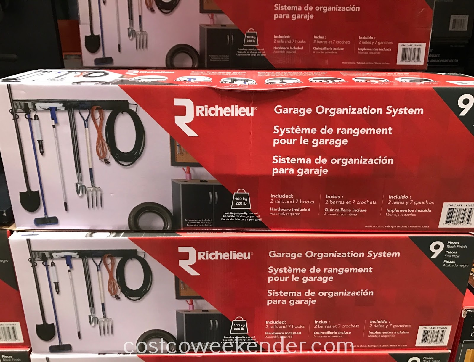 Costco 1116322 - Prevent your garage from being a storage area with the Richelieu Garage Organization System