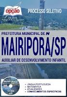 Apostila Concurso Prefeitura de Mairiporã 2017 Auxiliar de Desenvolvimento Infantil