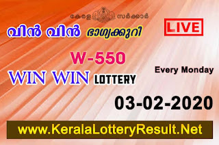 kerala lottery result, kerala lottery, kl result, yesterday lottery results, lotteries results, keralalotteries, kerala lottery, keralalotteryresult,  kerala lottery result live, kerala lottery today, kerala lottery result today, kerala lottery results today, today kerala lottery result, Win Win lottery results, kerala lottery result today Win Win, Win Win lottery result, kerala lottery result Win Win today, kerala lottery Win Win today result, Win Win kerala lottery result, live Win Win lottery W-550, kerala lottery result 03.02.2020 Win Win W 550 Febraury 2020 result, 03 02 2020, kerala lottery result 03-02-2020, Win Win lottery W 550results 03-02-2020, 03/02/2020 kerala lottery today result Win Win, 03/02/2020 Win Win lottery W-550, Win Win 03.02.2020, 03.02.2020 lottery results, kerala lottery result Febraury  2020, kerala lottery results 03th Febraury 2020, 03.02.2020 week W-550lottery result, 03-02.2020 Win Win W-550Lottery Result, 03-02-2020 kerala lottery results, 03-02-2020 kerala state lottery result, 03-02-2020 W-550, Kerala Win Win Lottery Result 03/02/2020, KeralaLotteryResult.net,
