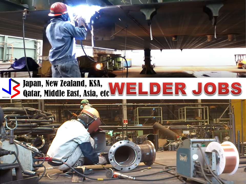 The following are welder and welding jobs approved by POEA to be deployed by duly licensed agencies bound for Japan, New Zealand, Australia, Middle East countries like Saudi Arabia, Oman, Qatar, and Bahrain and UAE, and Asian countries like Brunei and other islands.
