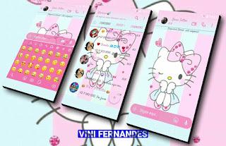 Hello Kitty Theme For YOWhatsApp & Fouad & NS WhatsApp By Vinícius