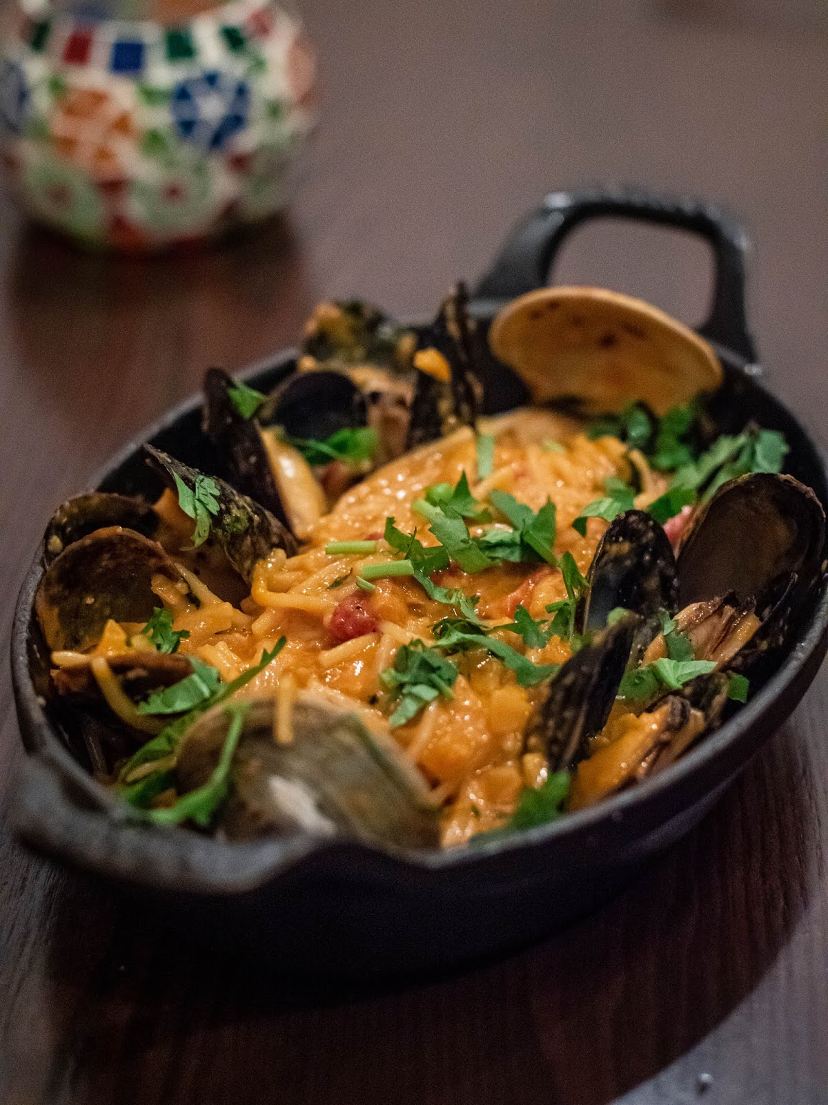 Mussels and clams with fideo at Mezon | Local Food Rocks