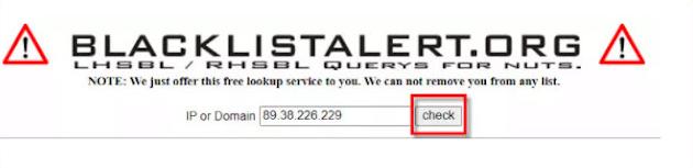 كيفية معرفة إذا كان عنوان IP الخاص بك في القائمة السوداء