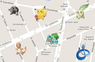daerah yang banyak pokemon