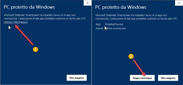 eseguire programma windows
