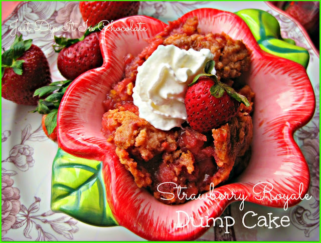 Strawberry Royale Dump Cake Recipe, this easy to make cake made with an abundance of fresh strawberries is ideal to serve friends and family cold or warm! It's just good and rich!