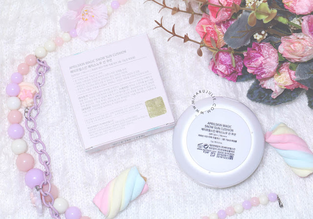 April Skin Magic Snow Sun Cushion review
