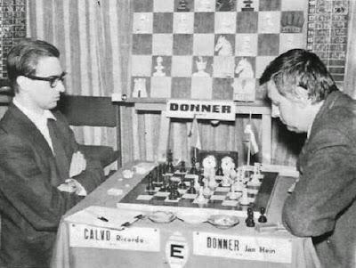 Partida de ajedrez Donner vs. Calvo, Palma de Mallorca 1967