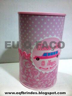cofrinho limousine rosa, brinde limousine rosa, lembrancinha limousine rosa, tema limousine rosa, festa limousine rosa