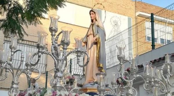 Esta tarde saldrá en procesión la Virgen de la Medalla Milagrosa de Jerez de la Frontera