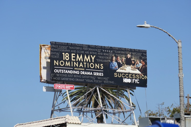 Succession season 2 Emmy nominee billboard