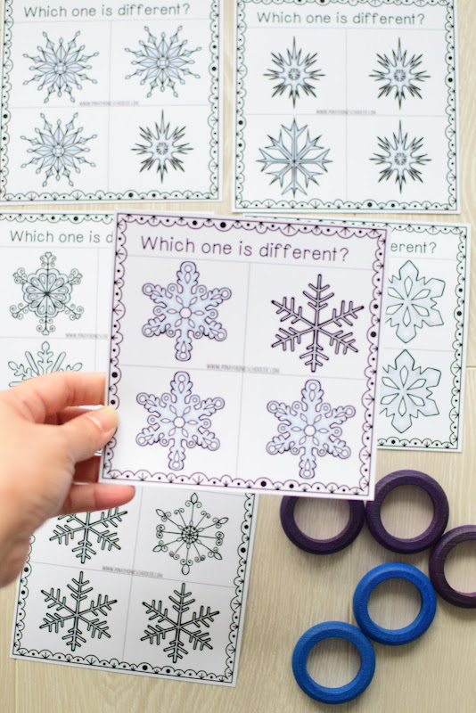 Winter Theme Learning Pack: Snow Visual Discrimination