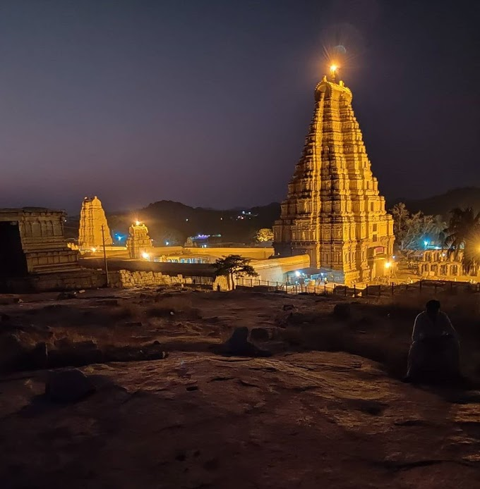 Virupaksha Temple in Hampi, Karnataka / Religious tourist place in India