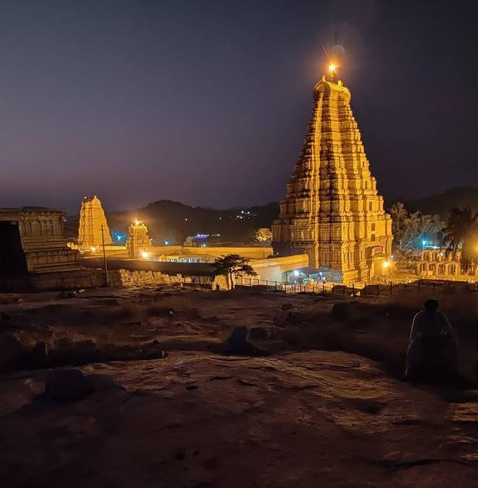 Virupaksha Temple in Hampi, Karnataka / Religious tourist place in India