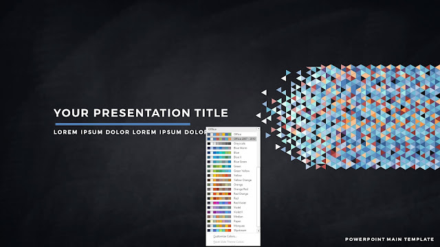 Polygonal Presentation Title Background Free PowerPoint Template with Office2007-2010 Color Scheme