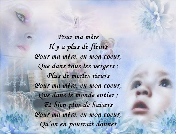 Extrêmement Top du Meilleur: Joli Poème D'amour Pour Maman A Imprimer Gratuit JB07