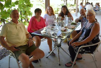group enjoying lunch
