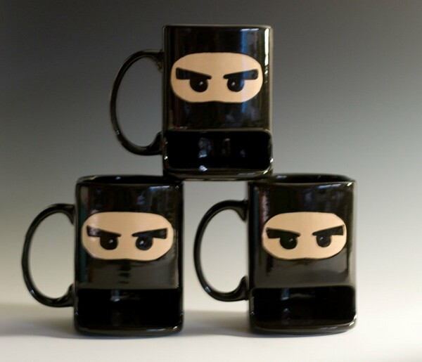 Funny and Unusual Hand-Painted Ninja Mugs