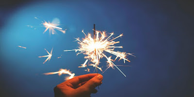 imagem de fogos de ano novo