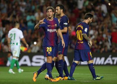 موعد مباراة برشلونة وريال بيتس فى الدوري الاسباني والقنوات الناقلة