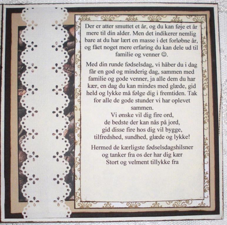 födelsedagsrim 75 år Helles Card: 75 Years Birthday card födelsedagsrim 75 år