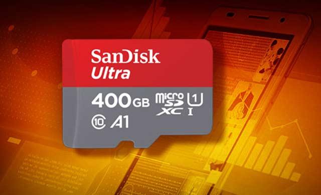 Westerm Digital memperkenalkan kartu memori SunSDXC UHS-I SanDisk Ultra microSDXC pertama berkapasitas 400 GB ini. Perlu waktu dua tahun bagi SanDisk untuk melipatgandakan kapasitas maksimum media penyimpanan ini sampai dengan kapasitas 2 TB.