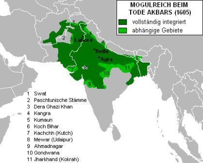 Akbar's empire and death