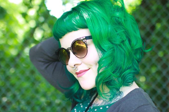 colourpop, matte lippie, green hair