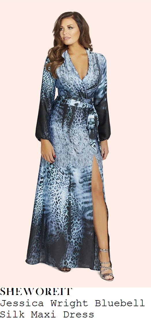jessica-wright-jessica-wright-bluebell-multi-blue-mixed-animal-ombre-print-long-sleeve-plunge-wrap-front-tie-waist-detail-silk-maxi-dress
