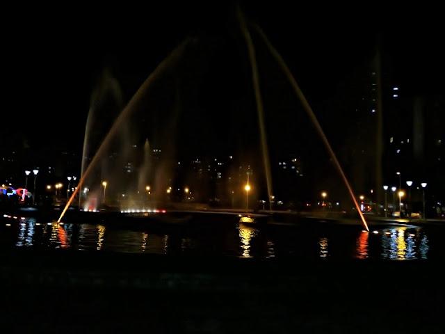 Fuente de aguas frenteal Casino de Mar dell Plata