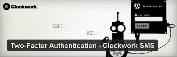 Clockwork SMS authentication plugin for WordPress