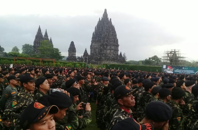 Bikin Merinding! Puluhan Ribu Banser NU dan Kokam Muhammadiyah Apel Bersama di Prambanan, Ada Apa?
