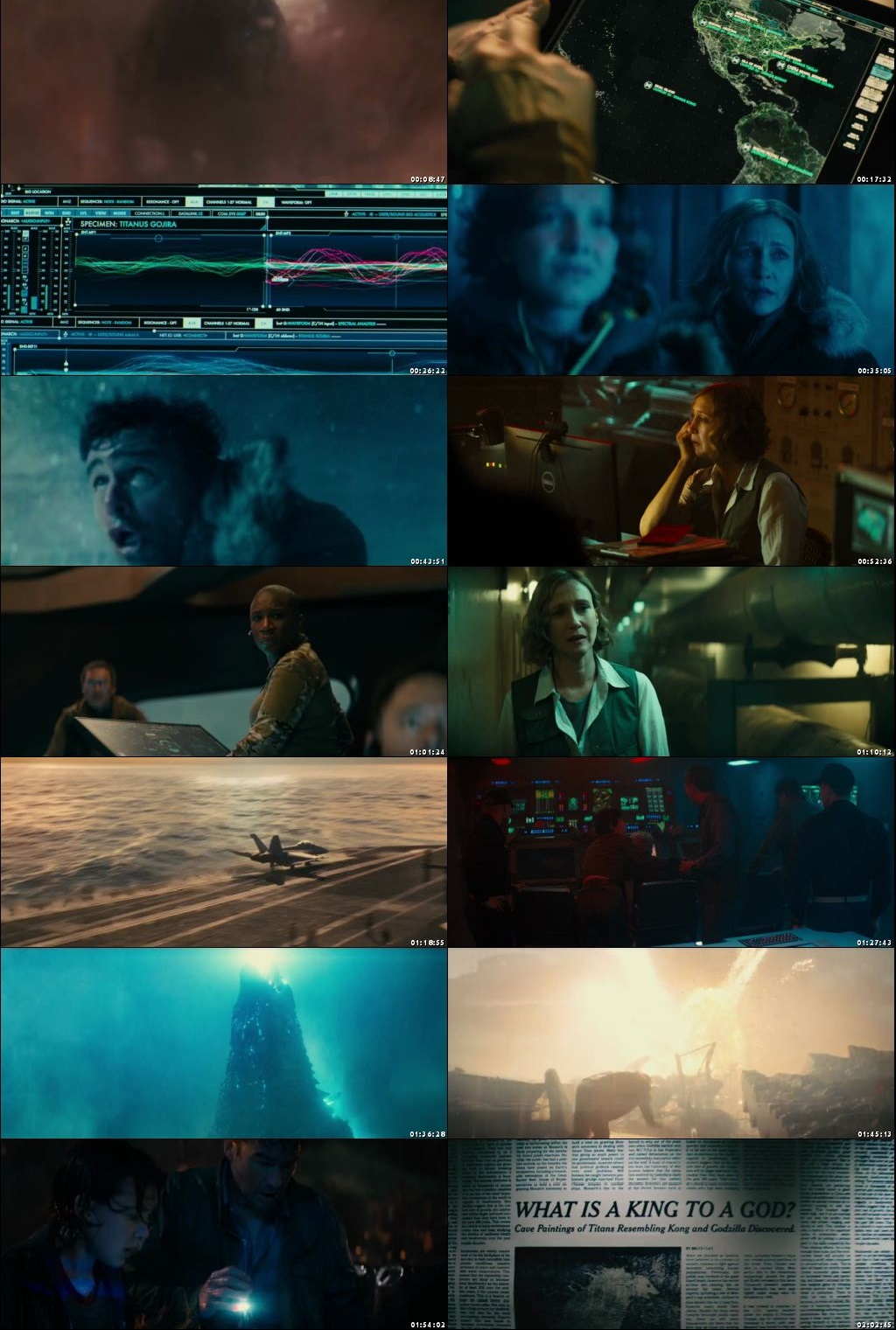Screen Shot Of Godzilla: King of the Monsters 2019 300MB Full Movie Hindi Dubbed Free Download 720P BRRip HEVC