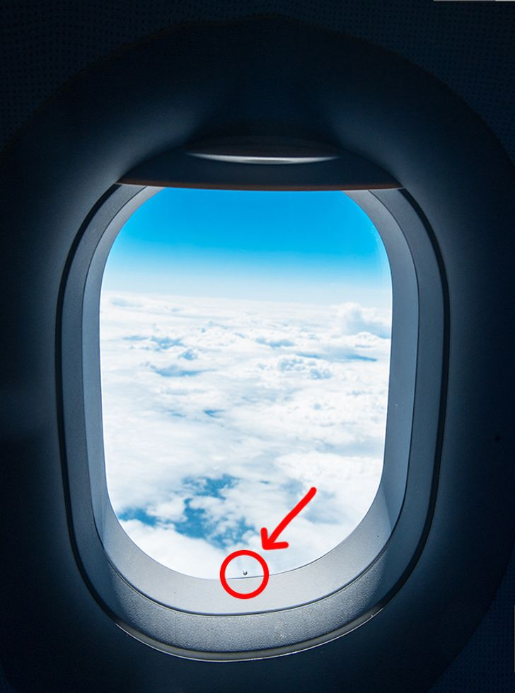 Hole in plane windows