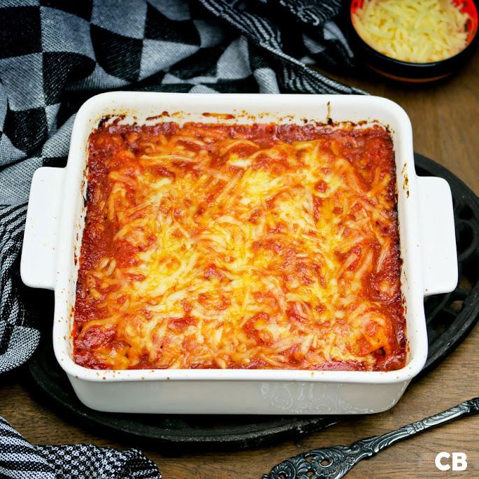 Italiaanse cannelloni met kalfsgehakt en tomaat-basilicumsaus