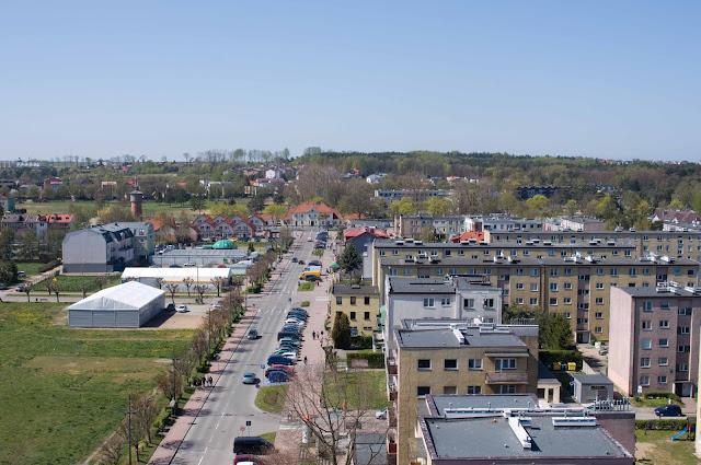 dworzec PKP Władysławowo, widok na miasto z góry